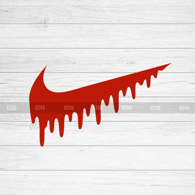 Download Nike SVG Nike Drip Nike Logo PNG Silhouette Clipart SVG | Etsy