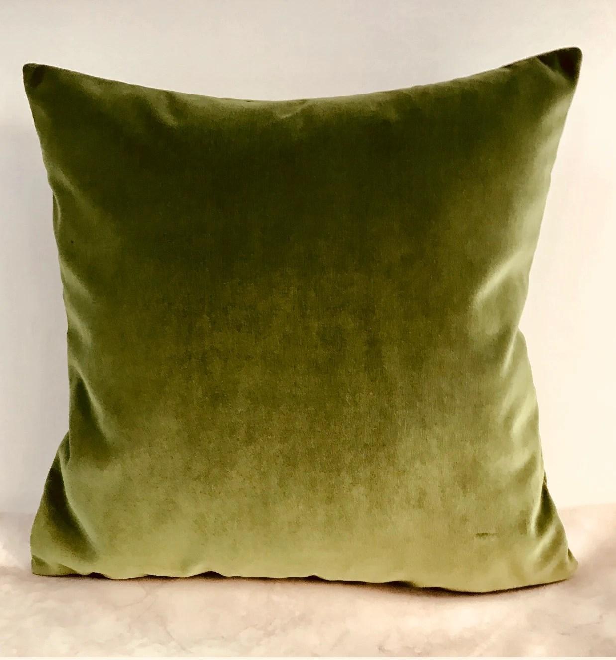 green velvet pillow etsy