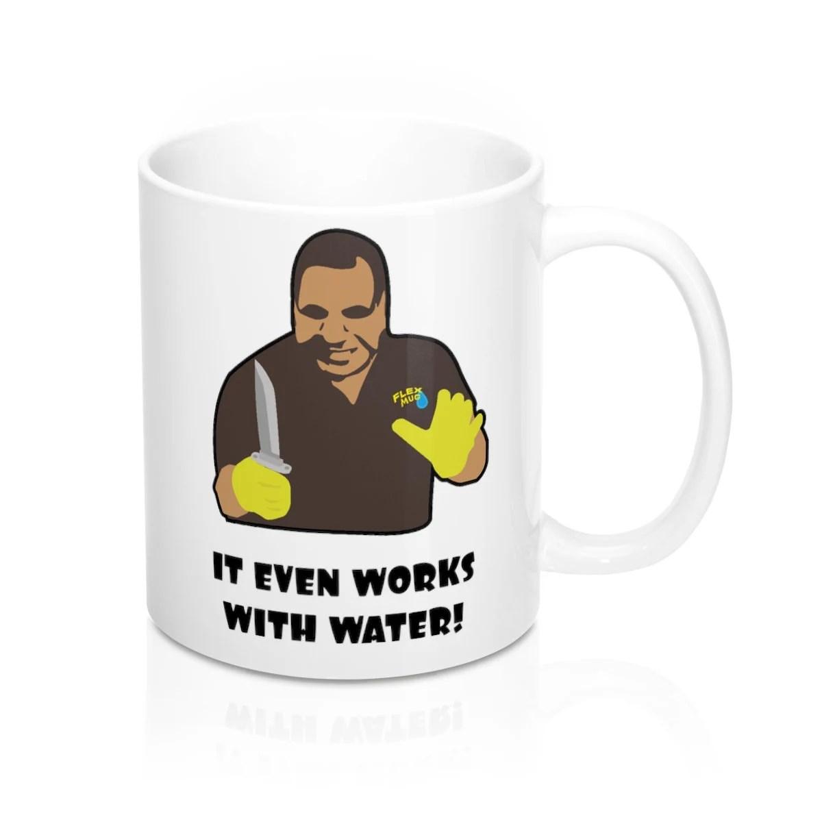 Flex Tape Meme Mug Flex Mug From Phil Swift It Even Works Etsy