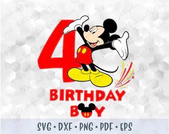 Birthday Boy Disney Svg Mickey Kids Disneyland Printable Iron Etsy