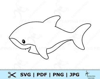 Shark Outline Etsy