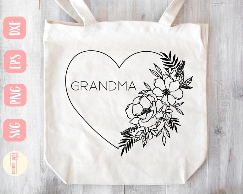 Download Grandma heart svg Grandma svg Shirt I love my grandkids | Etsy