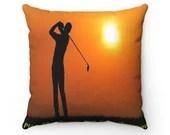 Golf Pillow - Spun Polyester Square