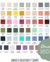 Set Of 2 Bella Canvas Fall Solid Colors Color Chart 3001 Etsy