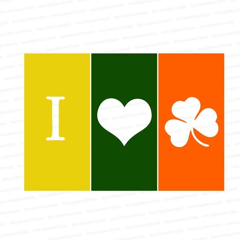 Download I Love Clover Flags Svg Cute Shamrock Svg Dxf Png St ...