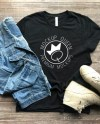 Black Bella Canvas 3001 T Shirt Mockup W Jacket And Boots Etsy