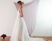 DELPHINE Wedding gown by Sheer Bride | Tulle A line Spaghetti Straps