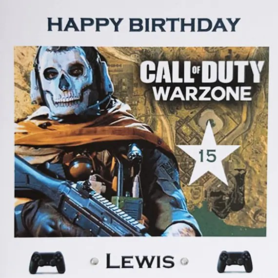 Personalised Call Of Duty Warzone Birthday Card Greeting Etsy