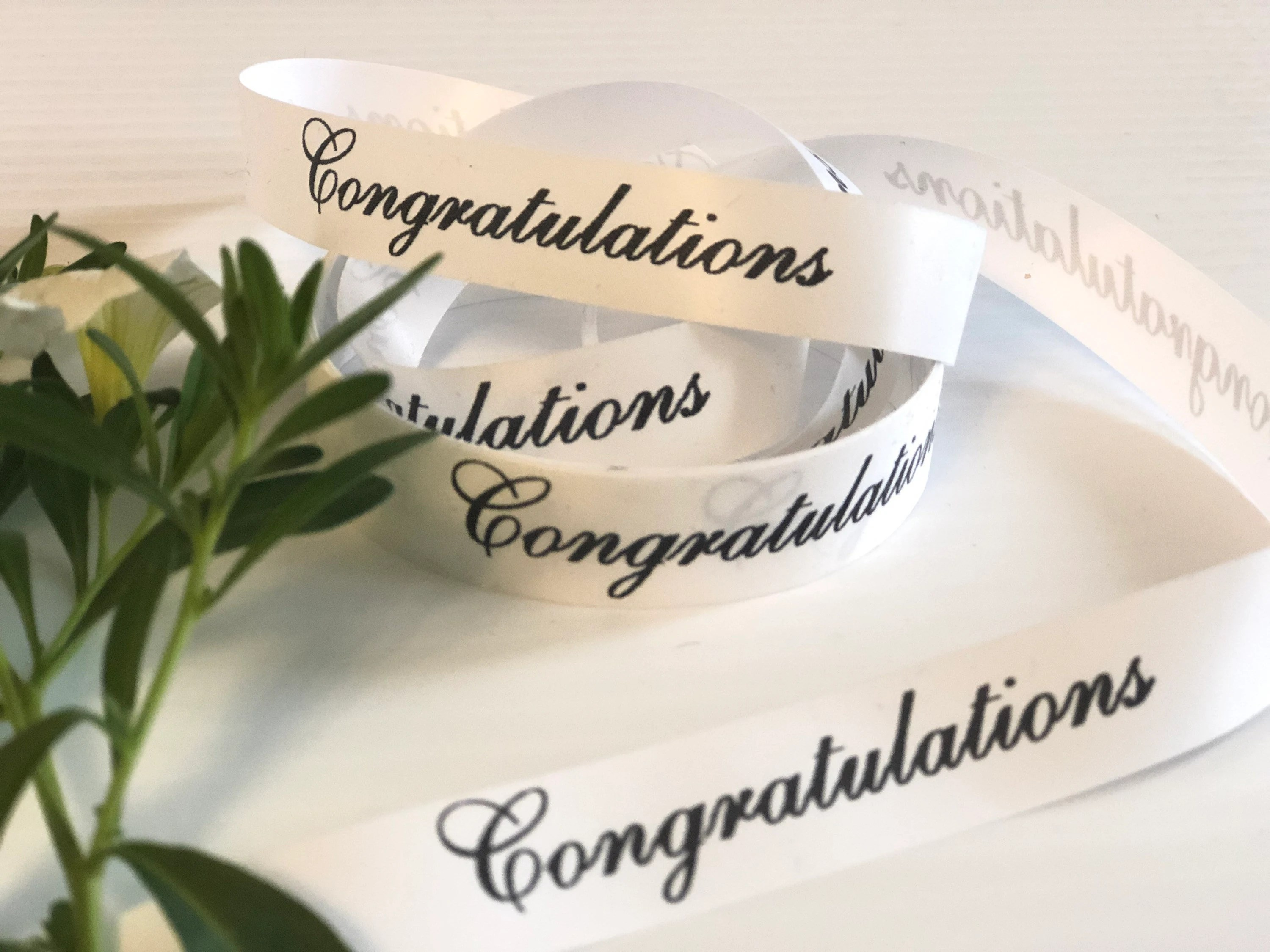 Wedding 16mm Personalized Printed Ribbons for Any Occasion  image 3
