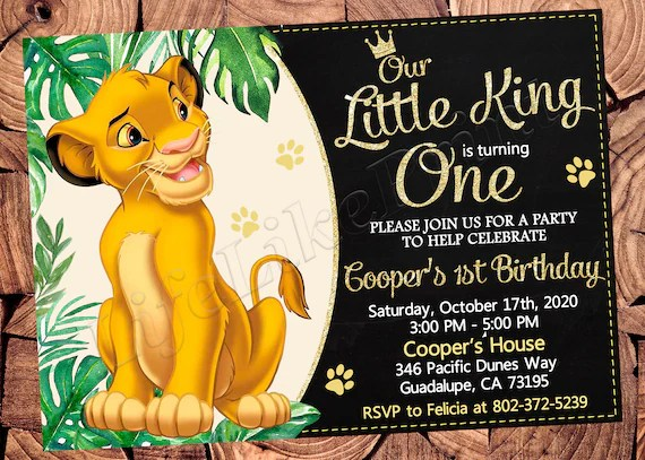 lion king invitation lion king birthday invitation lion king party lion king invite lion king digital file lion king printable file