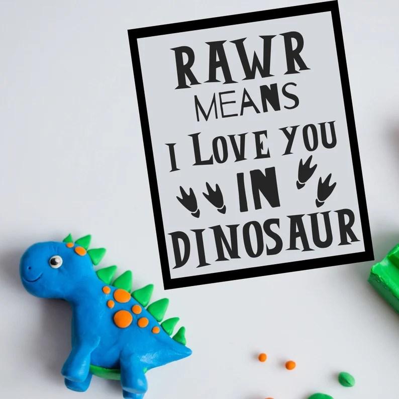 Download Dinosaur SVG Rawr Means I love You in Dinosaur SVG   Etsy