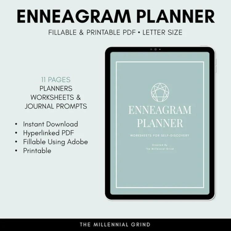 Enneagram Planner Enneagram Worksheets
