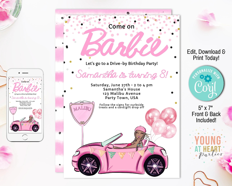 drive by girls barbie birthday parade