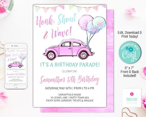 birthday parade invitation drive