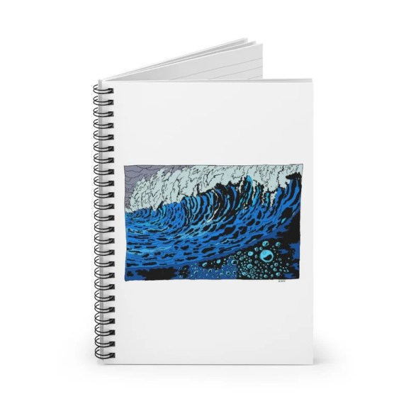 Ruled Line Spiral Notebook With Urban Art Cover 32  Retro image 0