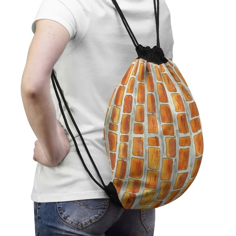 Cool Art Drawstring Bag 4  Retro custom gift aesthetic pop image 0