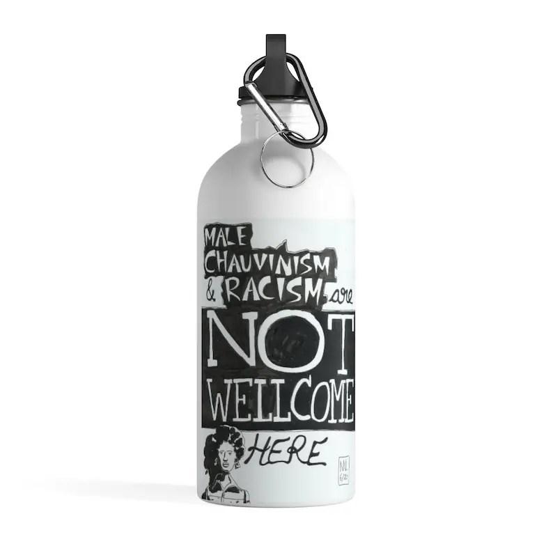 Urban Art Water Bottle 24  Retro custom gift pop art line image 0