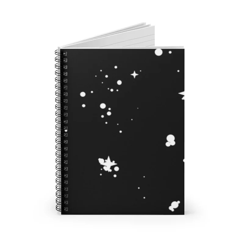 Ruled Line Spiral Notebook With Cool Art Cover 37  Retro image 0