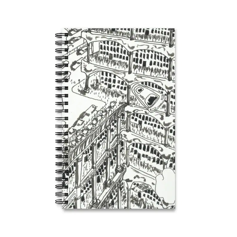 Spiral Journal With Cool Art Cover 12  Retro custom gift image 0