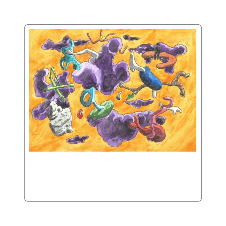 Cool Art Vinyl Stickers 6  Retro custom gift aesthetic image 0