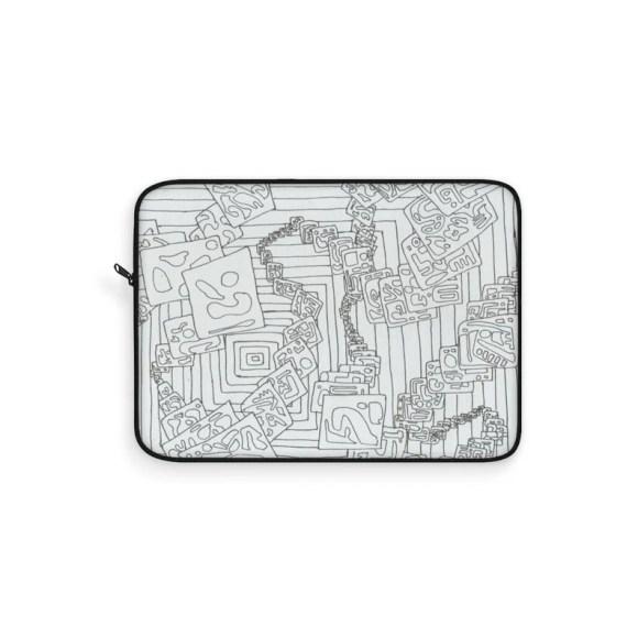 Urban Art Laptop Sleeve 23  Retro custom gift line art pop image 0