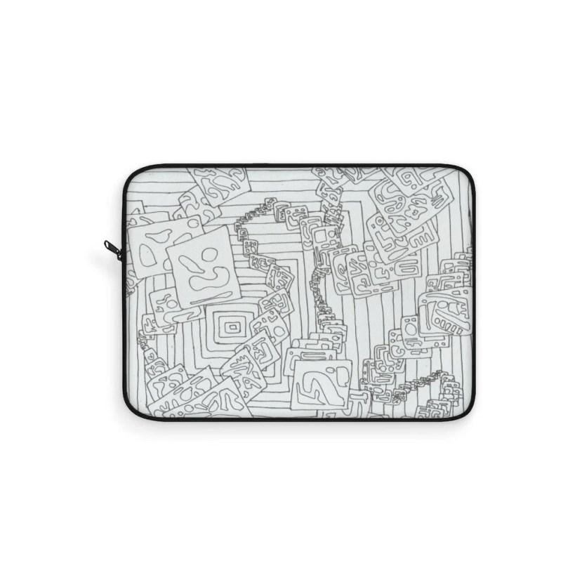 Retro custom gift line art NunoNevesStore Cool Art Laptop Sleeve 5 pop art cute laptop sleeves
