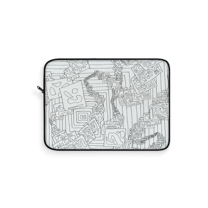 Cool Art Laptop Sleeve 23  Retro custom gift line art pop image 0