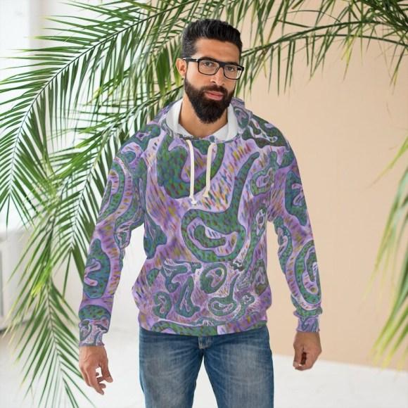 Urban Art Unisex Pullover Hoodie 3  Retro custom gift image 0