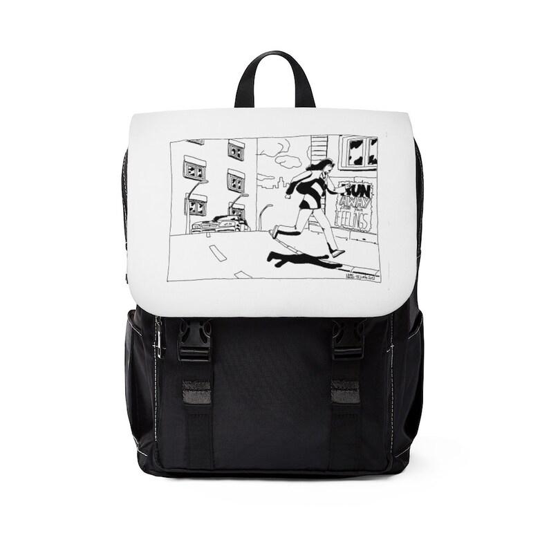 Urban Art Canvas Mini Backpack 1  Retro custom gift image 0