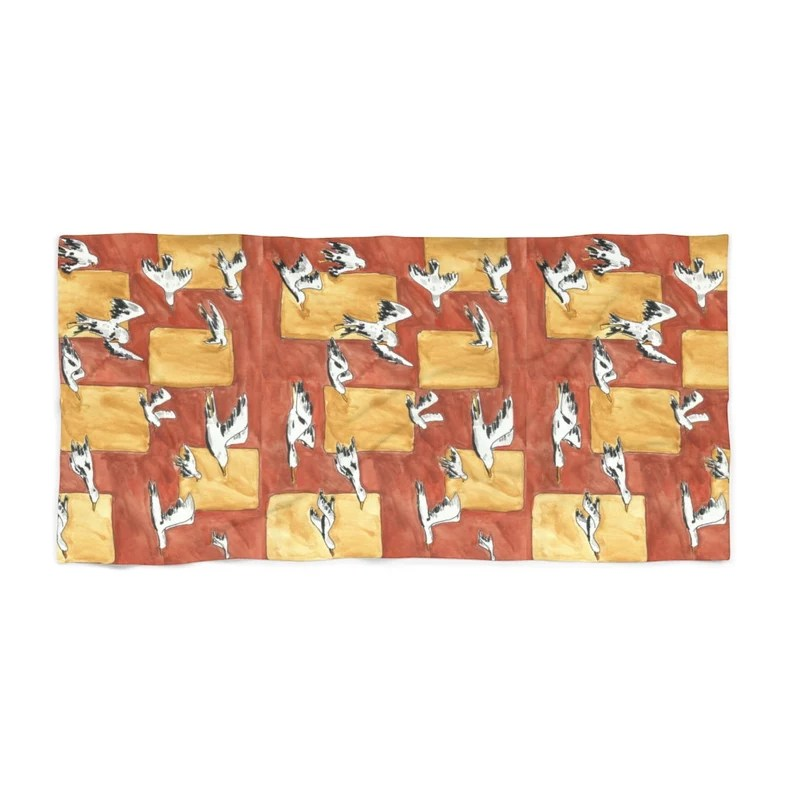 Cool Art Beach Towels 3  Retro custom gift designer image 0