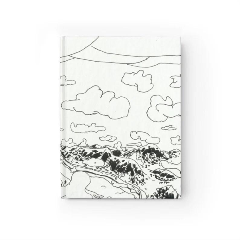Blank Journal With Urban Art Cover 24  Retro custom gift image 0