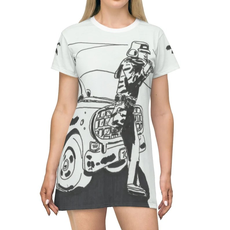 Cool Art T-Shirt Dress  8 Retro custom gift petite plus size image 0