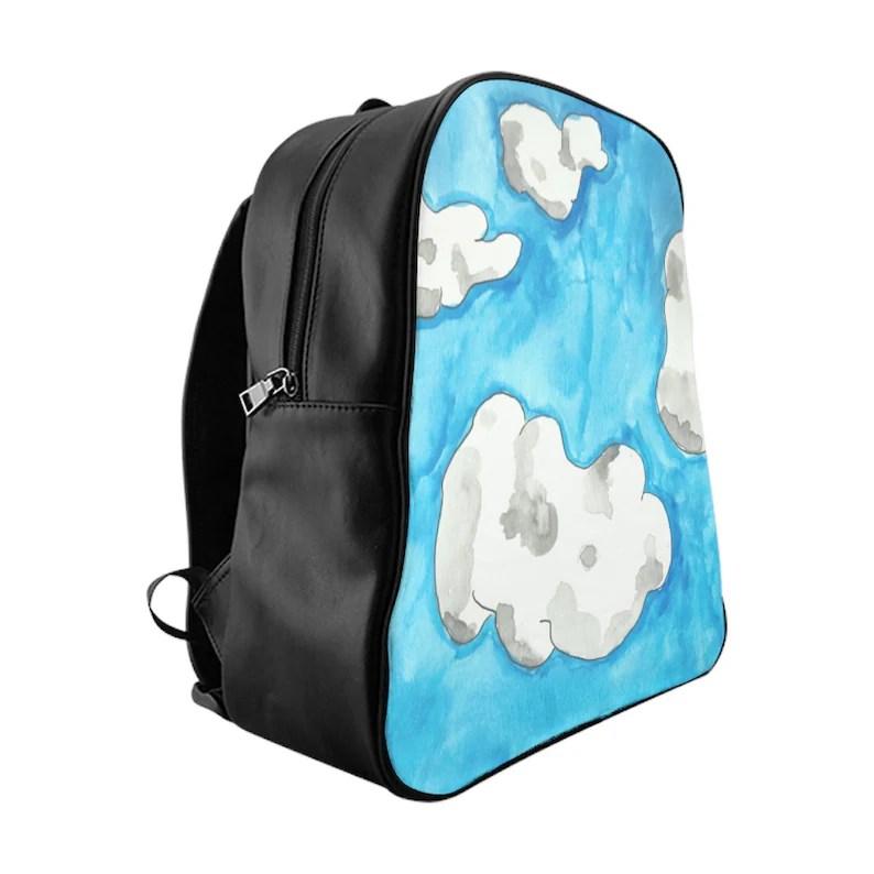 Cool Art PU Leather Backpack 3 sizes 7  Retro custom gift image 0