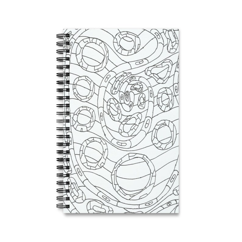 Spiral Journal With Cool Art Cover 3  Retro custom gift task image 0