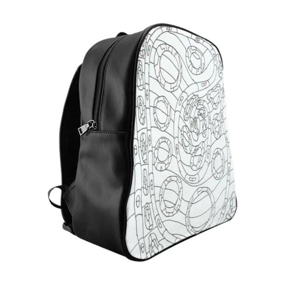 Urban Art PU Leather Backpack 3 sizes 14  Retro custom gift image 0