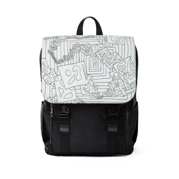 Urban Art Canvas Mini Backpack 19  Retro custom gift image 0