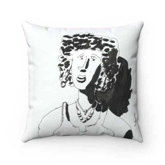 Cool Art Throw Pillows 20  Retro custom gift decorative image 0