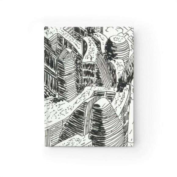 Blank Journal With Urban Art Cover 28  Retro custom gift image 0