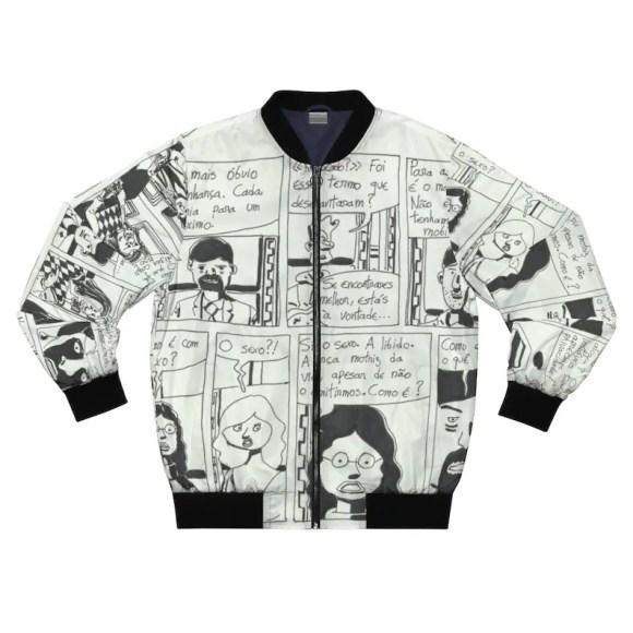 Urban Art Bomber Jacket 1  Retro custom gift aesthetic line image 0