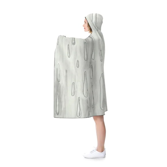Urban Art Hooded Blanket 2  Retro custom gift pop art line image 0