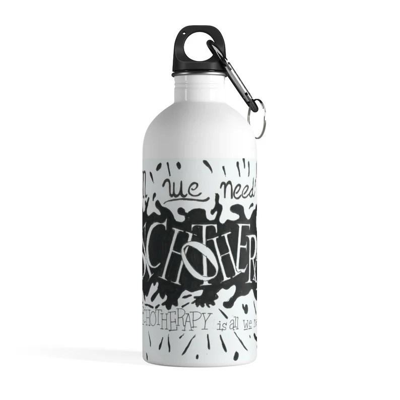 Urban Art Water Bottle 3  Retro custom gift pop art line image 0