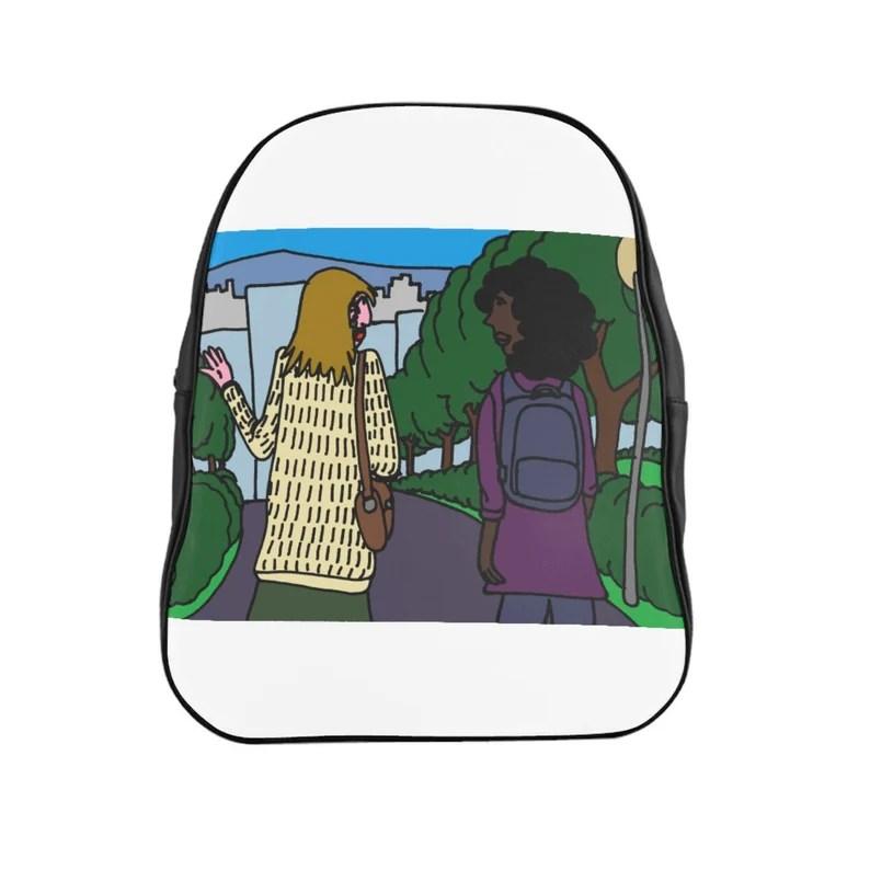Urban Art PU Leather Backpack 3 sizes 3   Retro custom gift image 0