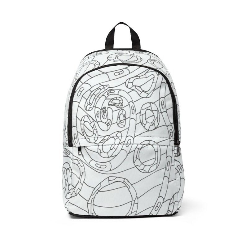 Urban Art Mid-sized Backpack 7  Retro custom gift  backpacks image 0