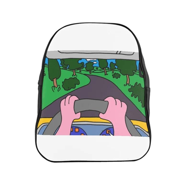 Urban Art PU Leather Backpack 3 sizes 4   Retro custom gift image 0