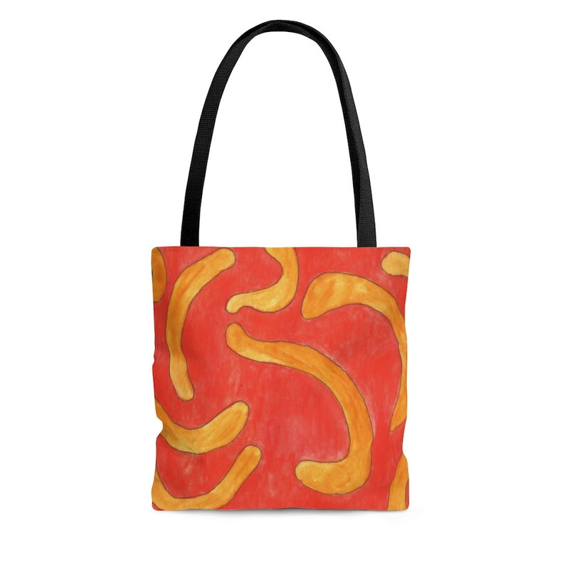 Cool Art Tote Bag 3 sizes 16  Retro custom gift aesthetic image 0
