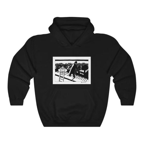 Urban Art Hooded Sweater 1  Retro custom gift aesthetic line image 0