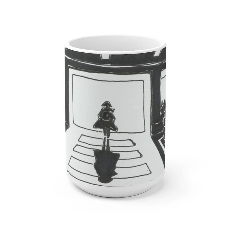 Urban Art Mug 2 sizes USA15  Retro custom gift unique mugs image 0
