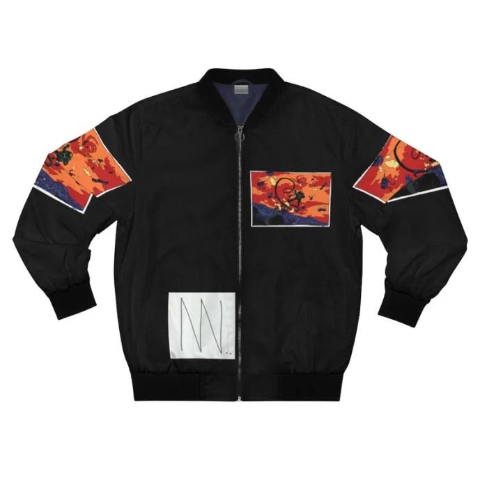 Cool Art Bomber Jacket 19  Retro custom gift aesthetic line image 0