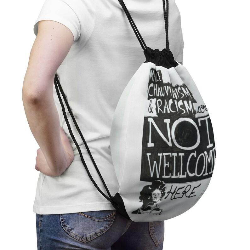 Urban Art Drawstring Bag 5  Retro custom gift aesthetic pop image 0