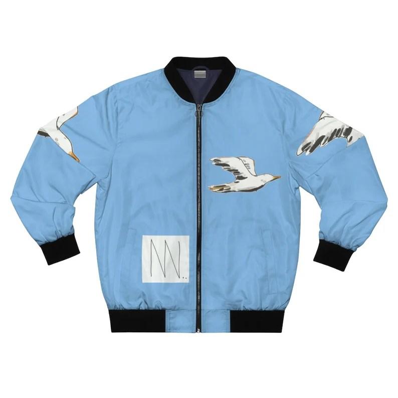 Cool Art Bomber Jacket 14  Retro custom gift aesthetic line image 0